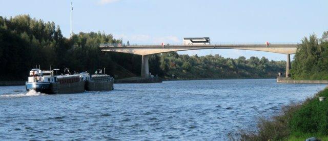 Bridge over the Albert Canal at Veldwezelt near Eben-Emael