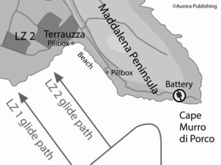Gliders in Sicily - Operation Ladbroke Terrauzza & Costa Bianca map
