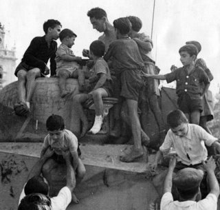Tullio Marcon story - Italian boys on Sherman tank during Operation Husky, the Allied invasion of Sicily 1943