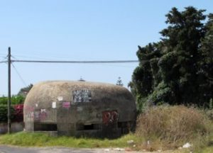 Pillbox near landing site of glider Waco glider 126 in Sicily during Operation Ladbroke