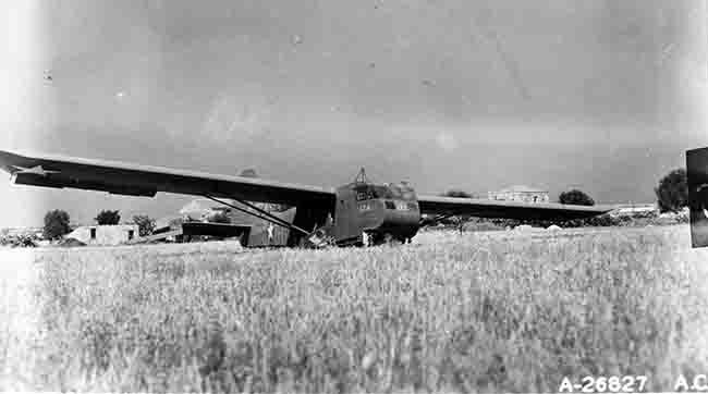 Operation Ladbroke Waco glider 126 in Sicily.