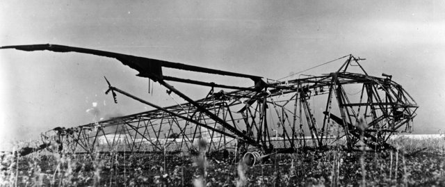 A burned-out Waco glider in Sicily, forlorn symbol of the shattered hopes for Operation Ladbroke.