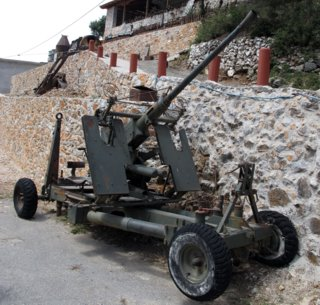 Bofors AA gun at Askifou Military Museum, Crete