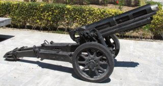 Italian 75/18 model 34 mountain howitzer at Heraklion