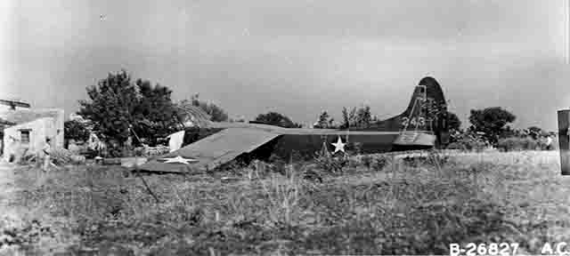 Waco glider 26 after landing in Sicily in Operation Ladbroke