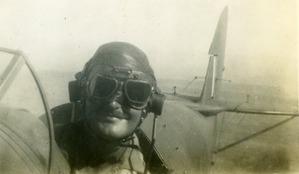 Lt W R Buchan in Tiger Moth. (C) Buchan.