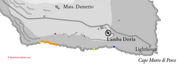 Capo Murro di Porco cliffs SRS map, (C) Operation-Ladbroke_com