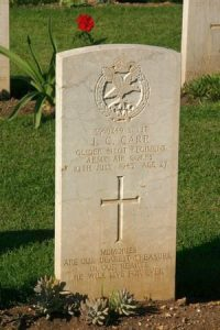 James Carr grave in CWGC Syracuse